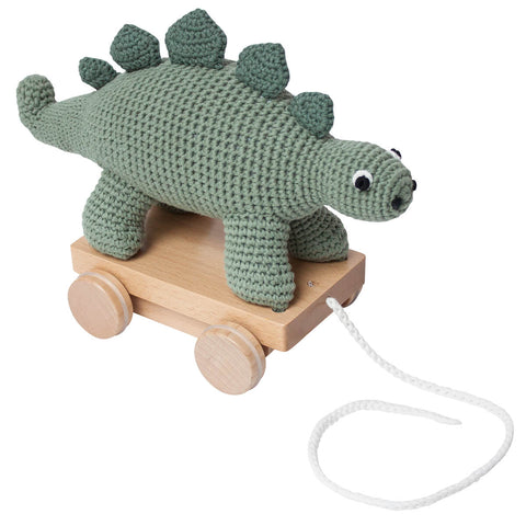 Dinosaur Crochet Pull Along Toy by Sebra - Junior Edition