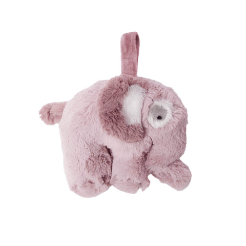 Elephant Plush Musical Pull Toy in Vintage Rose by Sebra - Junior Edition