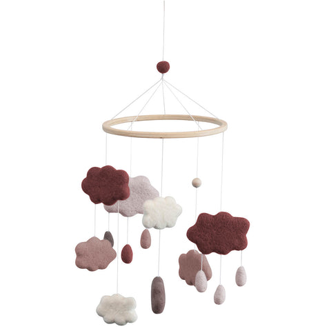 Clouds Felted Baby Mobile in Midnight Plum by Sebra - Junior Edition