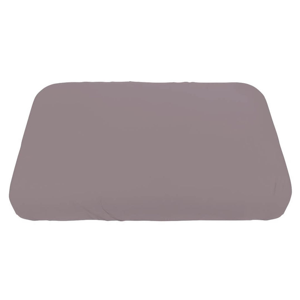 Jersey Fitted Crib Sheet in Dusty Rose by Sebra - Junior Edition