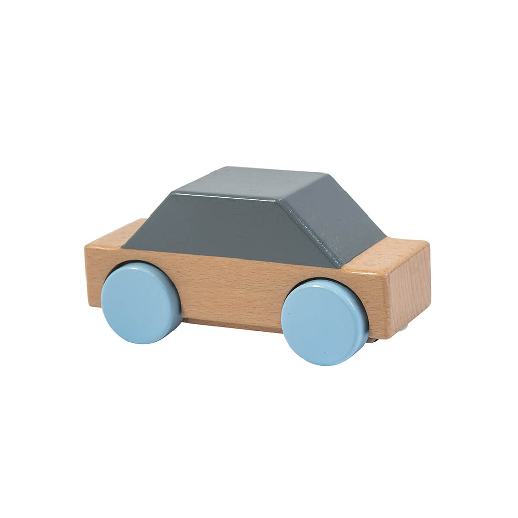 Wooden Car in Grey by Sebra - Junior Edition