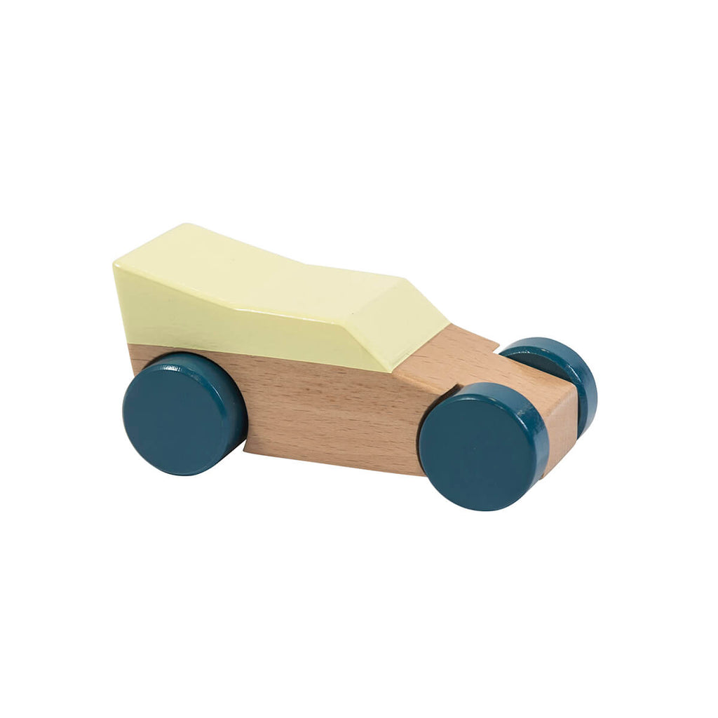 Wooden Race Car in Yellow by Sebra - Junior Edition