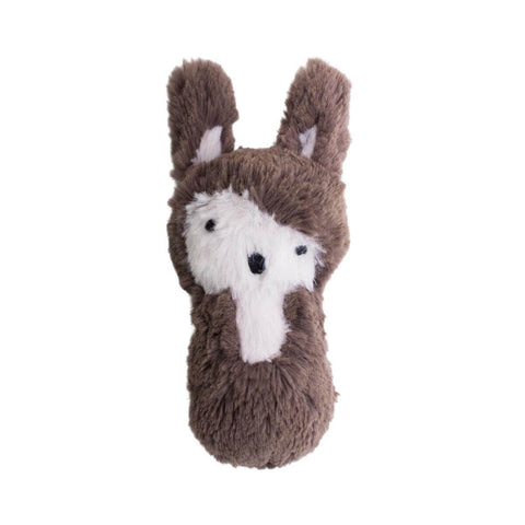 Siggy The Rabbit Plush Baby Rattle in Brown by Sebra
