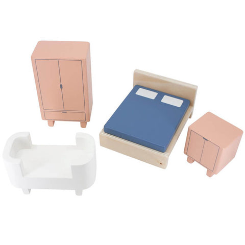 Wooden Bedroom Doll's House Furniture by Sebra