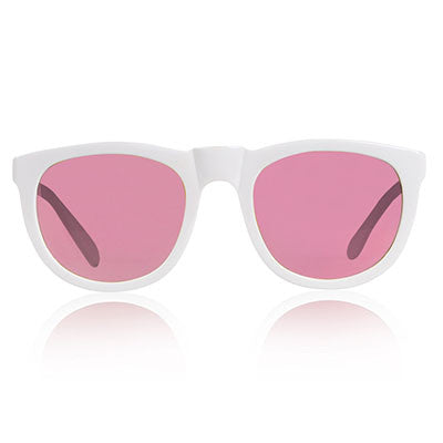 White Bobby Sunglasses by Sons + Daughters Eyewear - Junior Edition  - 1