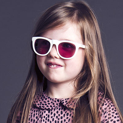 4d44723564a ... White Bobby Sunglasses by Sons + Daughters Eyewear - Junior Edition ...