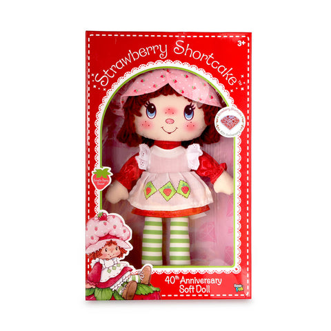 Strawberry Shortcake 40th Anniversary Soft Doll (32cm) by Basic Fun