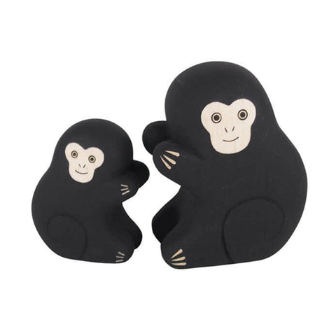 Monkey Family - Polepole Wooden Oyako by T-Lab - Junior Edition
