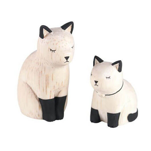 Siamese Cat Family - Polepole Wooden Oyako by T-Lab - Junior Edition