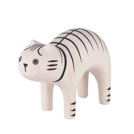 Tiger Cat - Polepole Wooden Animal by T-Lab - Junior Edition