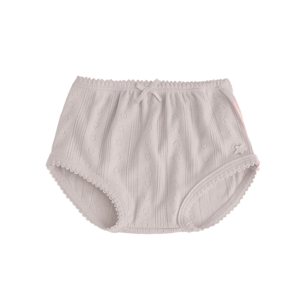 Pointelle Bloomer in Beige by Tocoto Vintage - Junior Edition