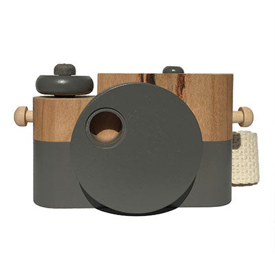 Grey Pixie Wooden Toy Camera by Twig Creative - Junior Edition