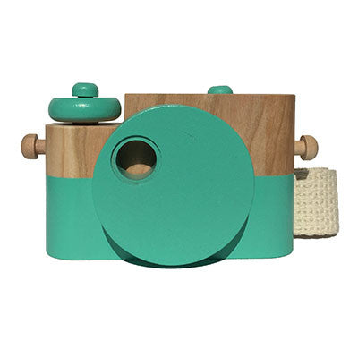 Mint Pixie Wooden Toy Camera by Twig Creative - Junior Edition