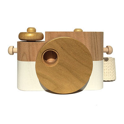 Gold Pixie Wooden Toy Camera by Twig Creative - Junior Edition  - 1