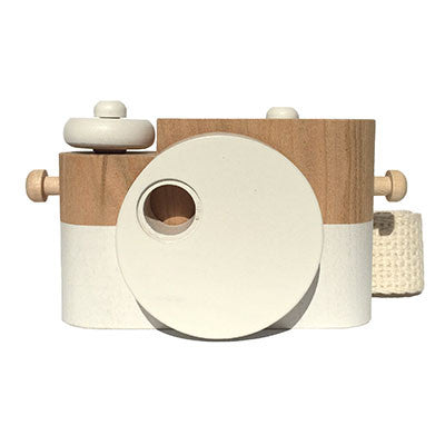 White Pixie Wooden Toy Camera by Twig Creative - Junior Edition  - 1