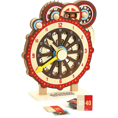 Machinalirleur Wooden Learning Clock by Vilac