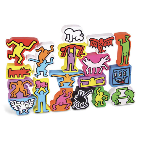 Keith Haring Character Stacking Blocks by Vilac - Junior Edition