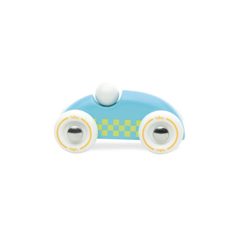 Mini Wooden Rally Car in Turquoise by Vilac - Junior Edition