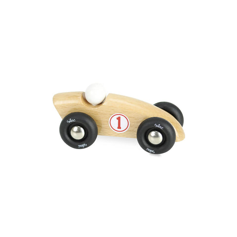 Mini Wooden Competition Car in Natural by Vilac