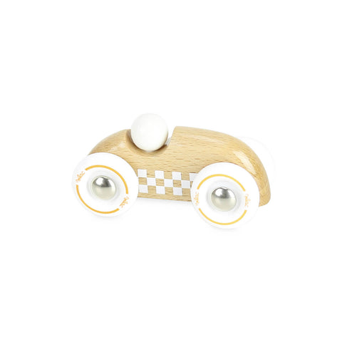 Mini Wooden Rally Car in Natural by Vilac