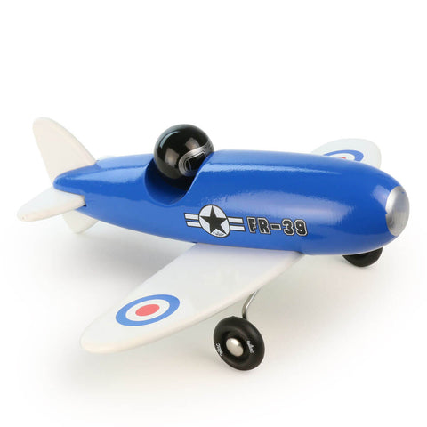 Aerobatic Wooden Toy Plane in Blue by Vilac