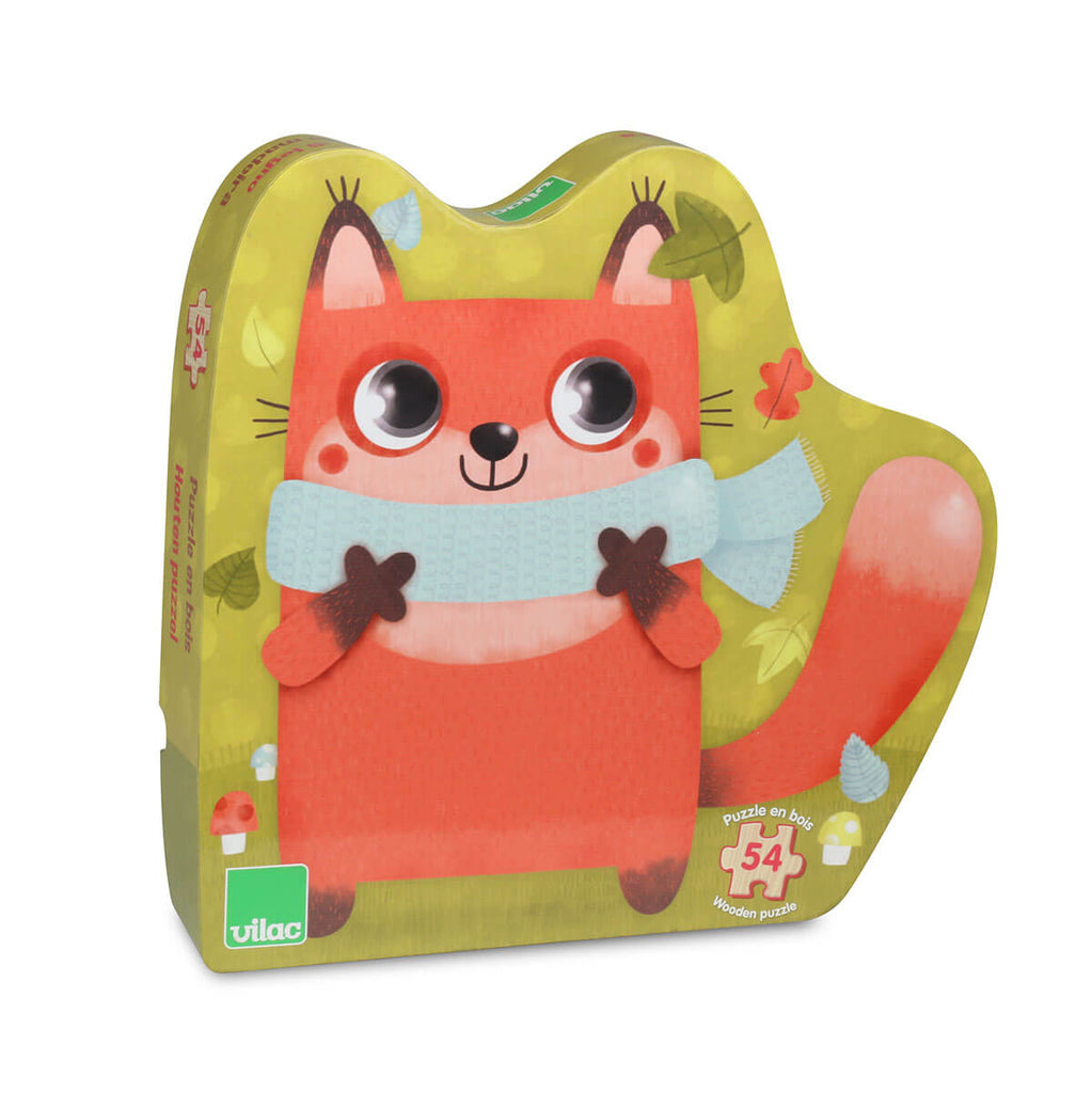 Little Fox Wooden Jigsaw Puzzle by Vilac - Junior Edition