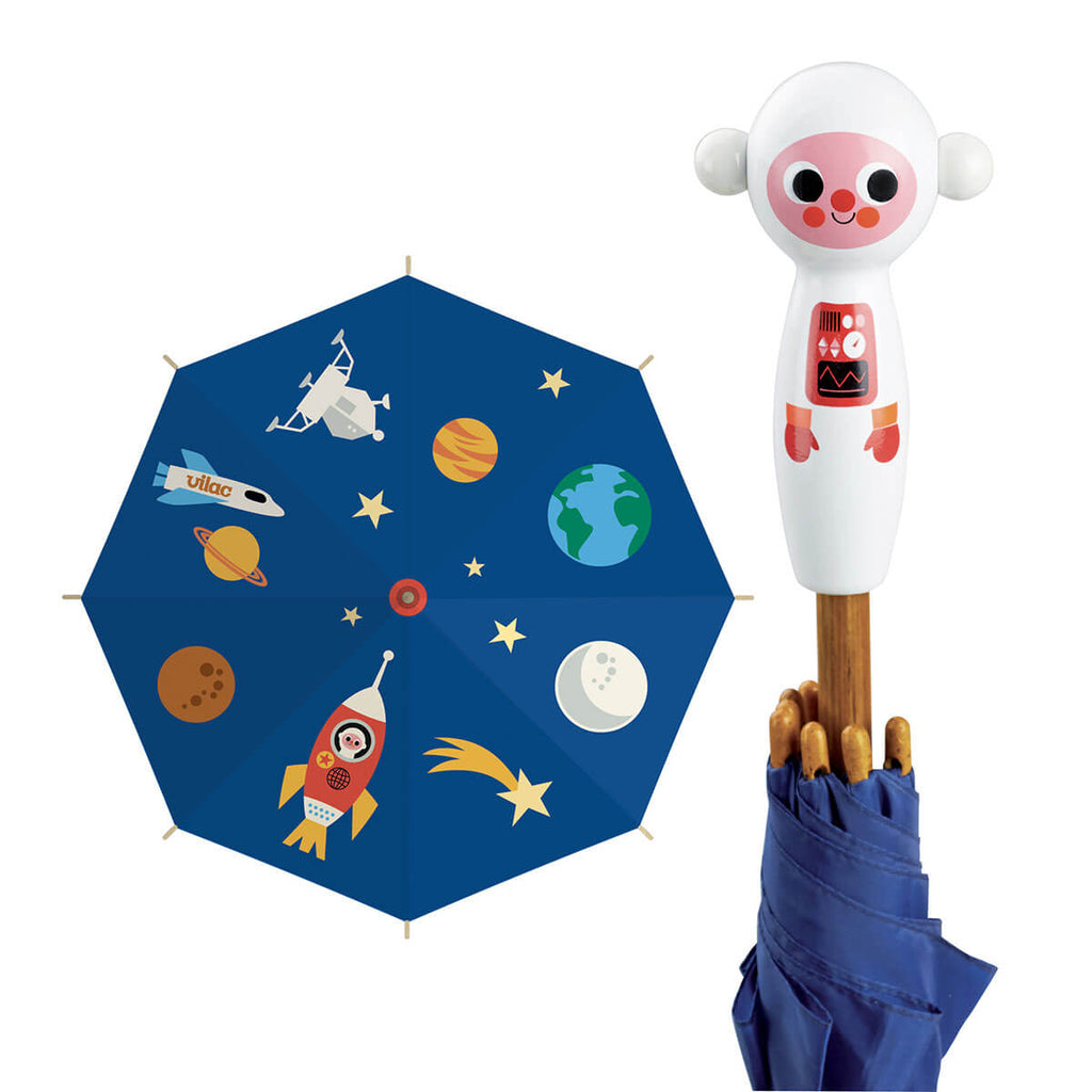 Ingela P. Arrhenius Cosmonaut Umbrella by Vilac - Junior Edition