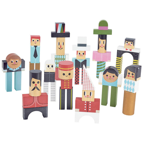 Ingela P. Arrhenius Character Stacking Blocks by Vilac - Junior Edition