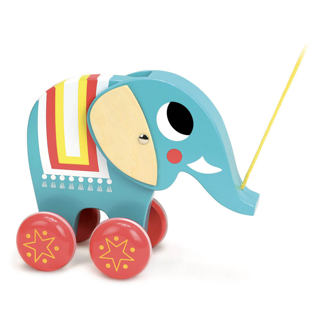 Ingela P. Arrhenius Elephant Pull Toy by Vilac - Junior Edition