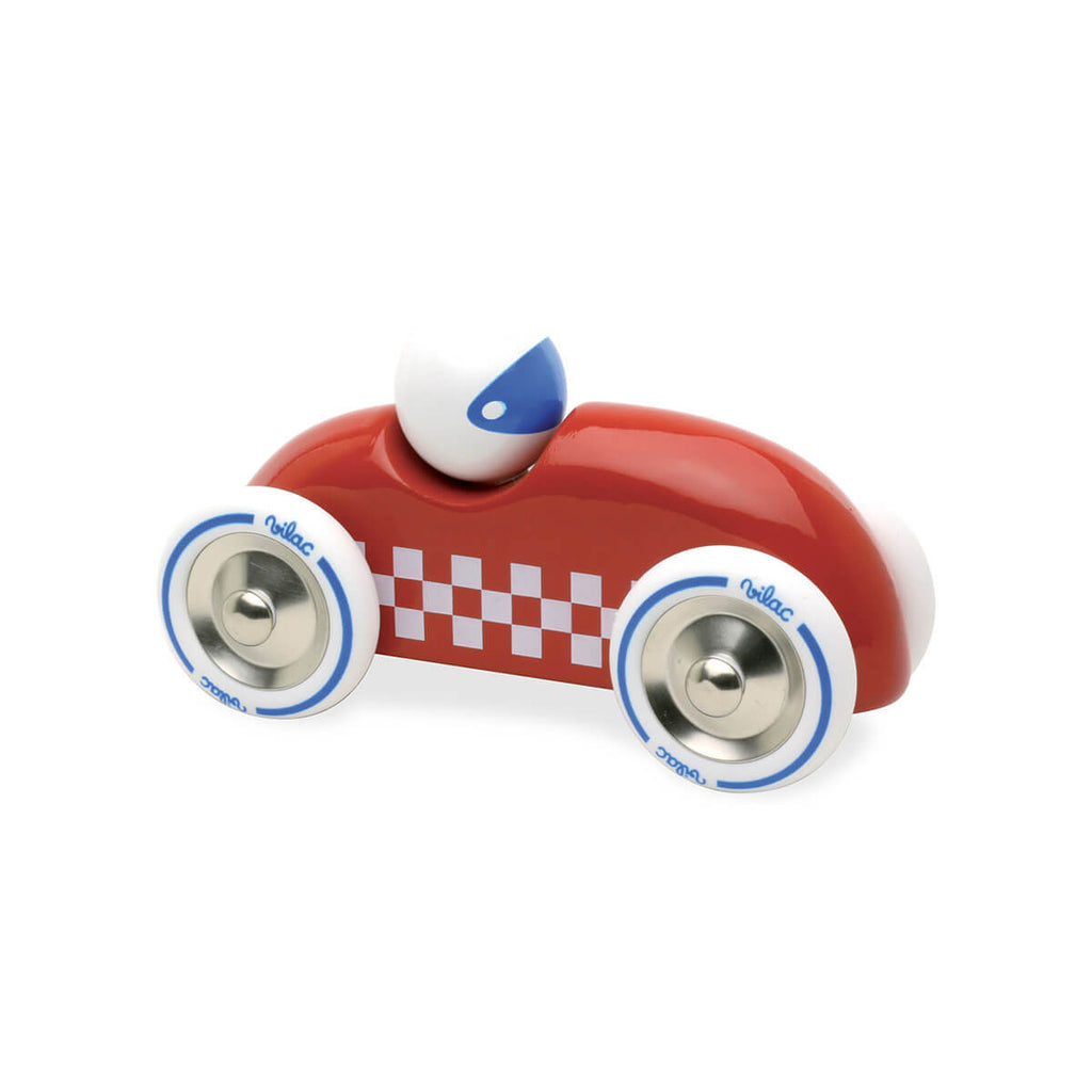 Medium Wooden Rally Car in Red by Vilac - Junior Edition