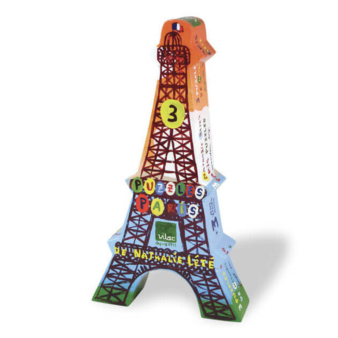 Nathalie Lété Paris Wooden Jigsaw Puzzle Set of 3 by Vilac - Junior Edition