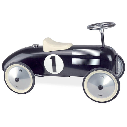 Ride On Metal Car in Black by Vilac - Junior Edition