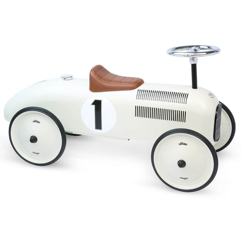 Ride On Metal Car in Cream by Vilac - Junior Edition