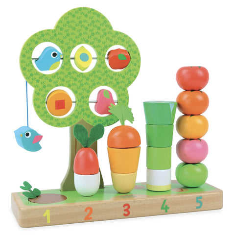 I Learn Counting Vegetables Set by Vilac - Junior Edition