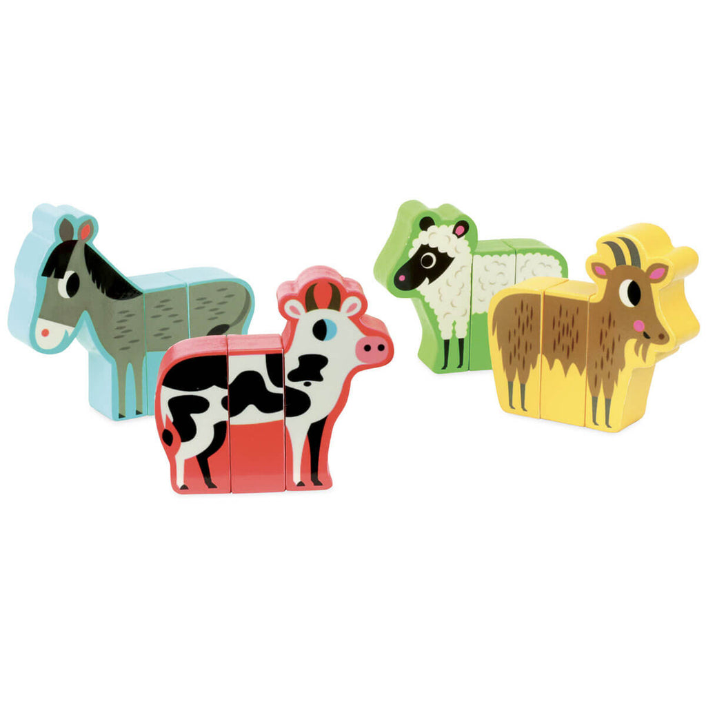 Ingela P. Arrhenius Magnetic Farm Animals Set by Vilac - Junior Edition