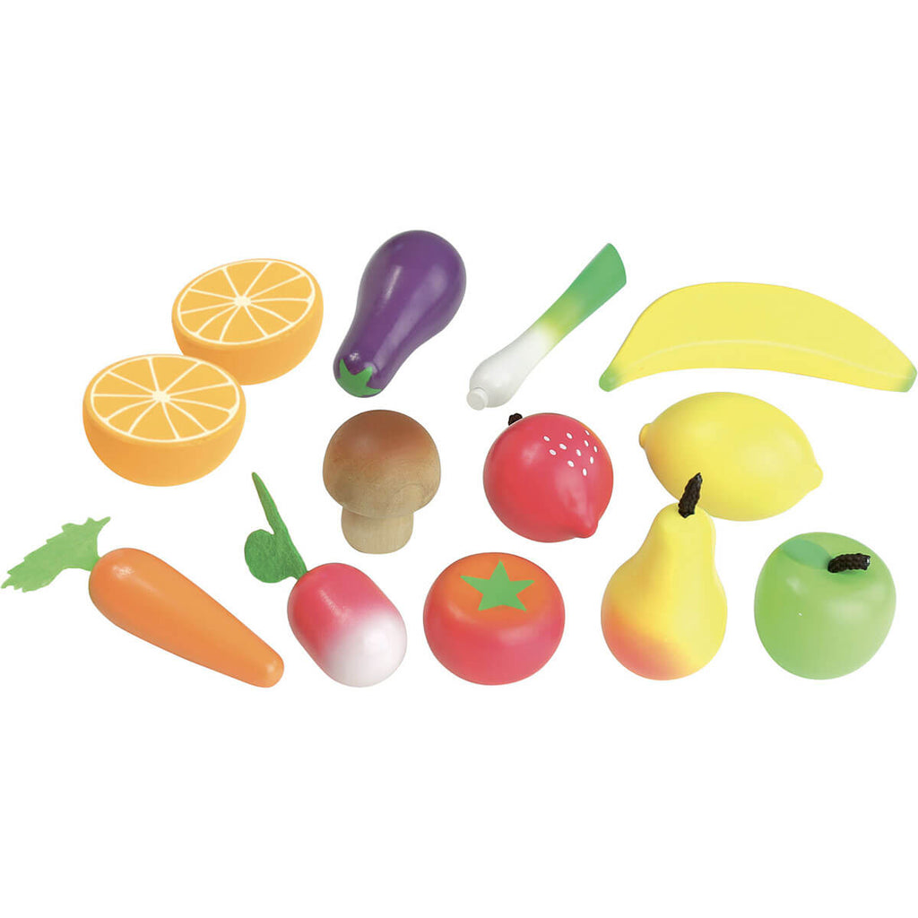 Wooden Fruit And Vegetables Set by Vilac - Junior Edition