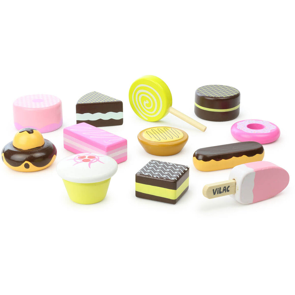 Wooden Patisserie Set By Vilac - Junior Edition