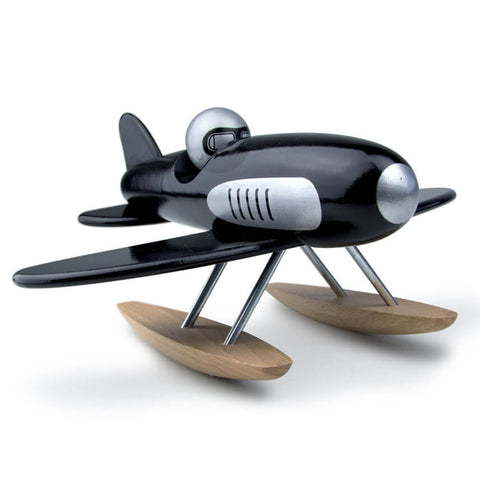 Wooden Toy Seaplane in Black by Vilac - Junior Edition