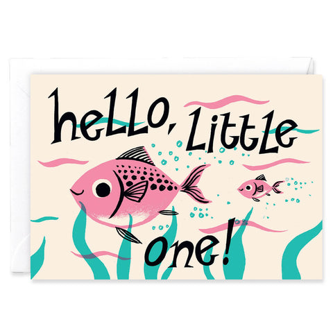 Hello Little One Greetings Card by Nicholas John Frith for Wrap