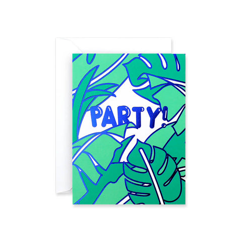 Party! Foil Blocked Mini Greetings Card by Rachel Peck for Wrap - Junior Edition