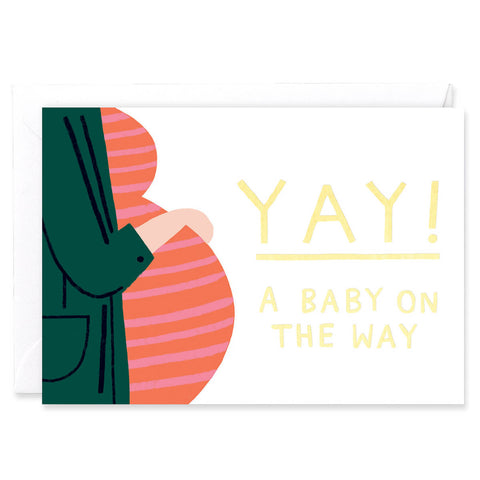 Baby On The Way Greetings Card by Charlotte Trounce for Wrap
