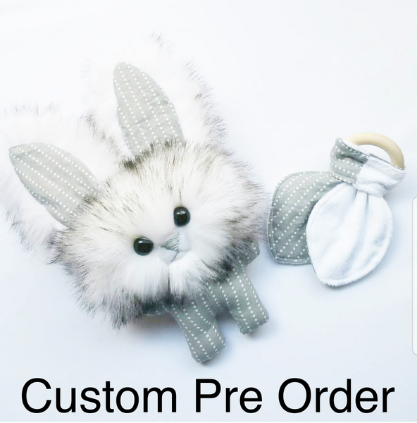 Bunny Ear Crinkle Teether - CUSTOM PRE ORDER