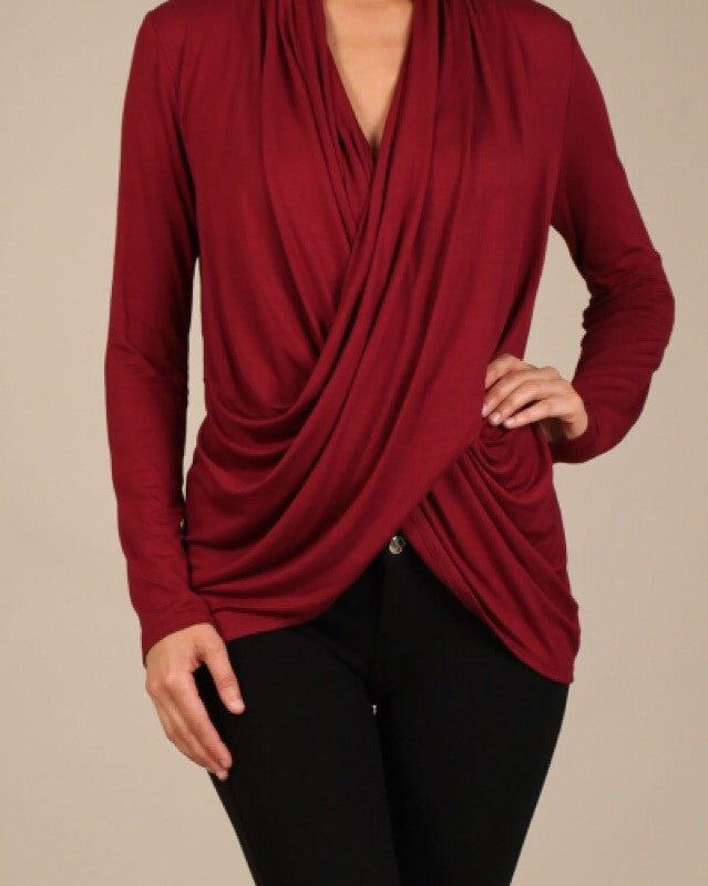 Hide Away Cross Wrap Top