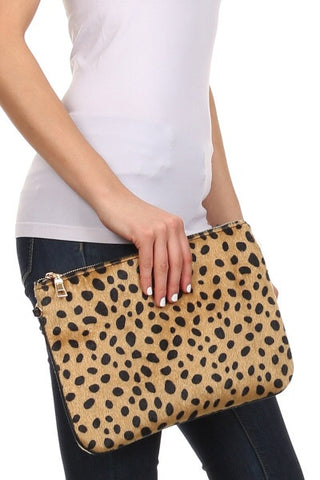 Love and Leopard clutch