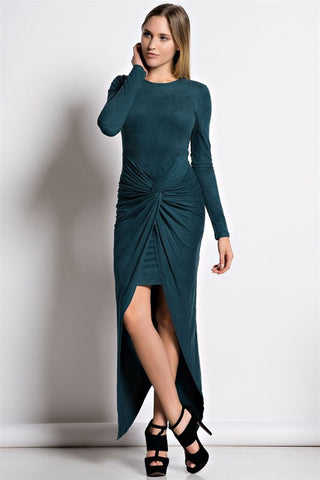 Cake By The Ocean Faux Suede Dress