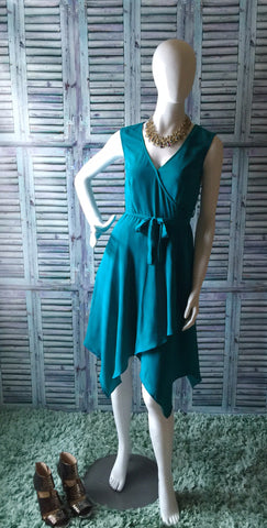I Love Lucy Turquoise Wrap Dress