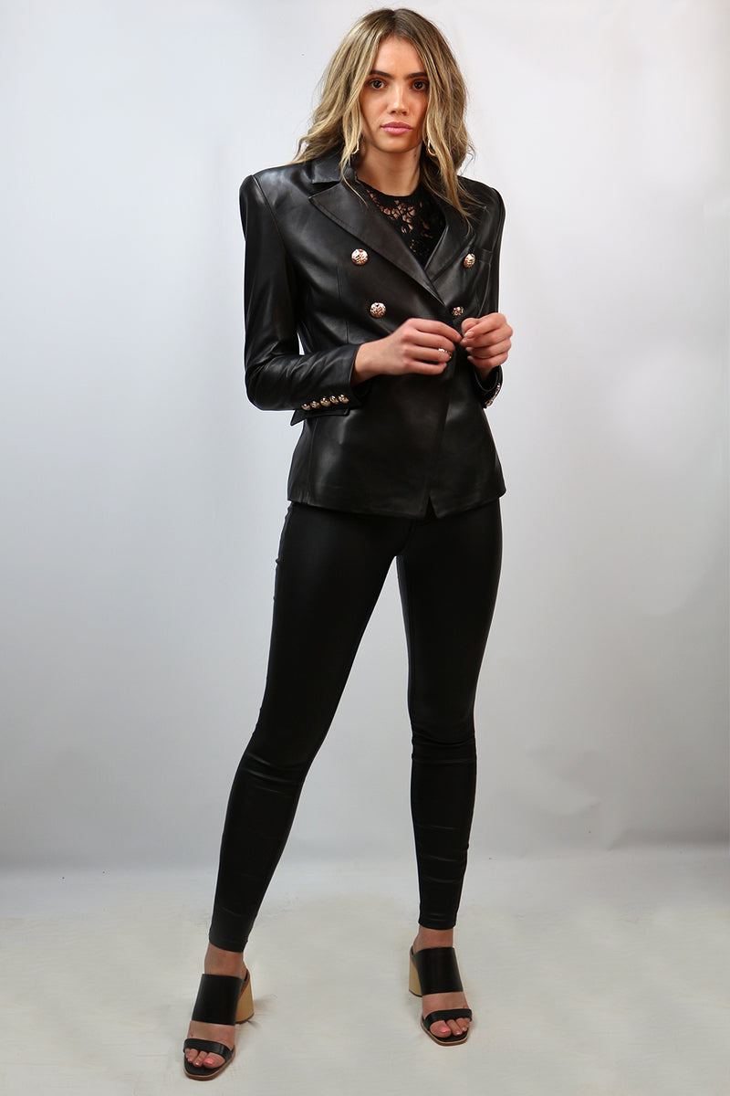 DEA / Bella Blazer / Leather / Black
