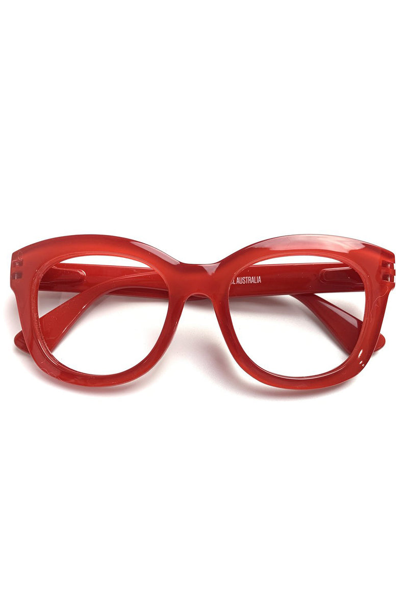 Captivated Eyewear / Reading Glasses / Magnification 2 / Red