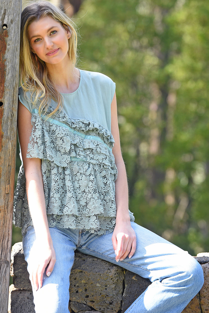 M.A.Dainty  / Sugar Glider Top / Sea Foam