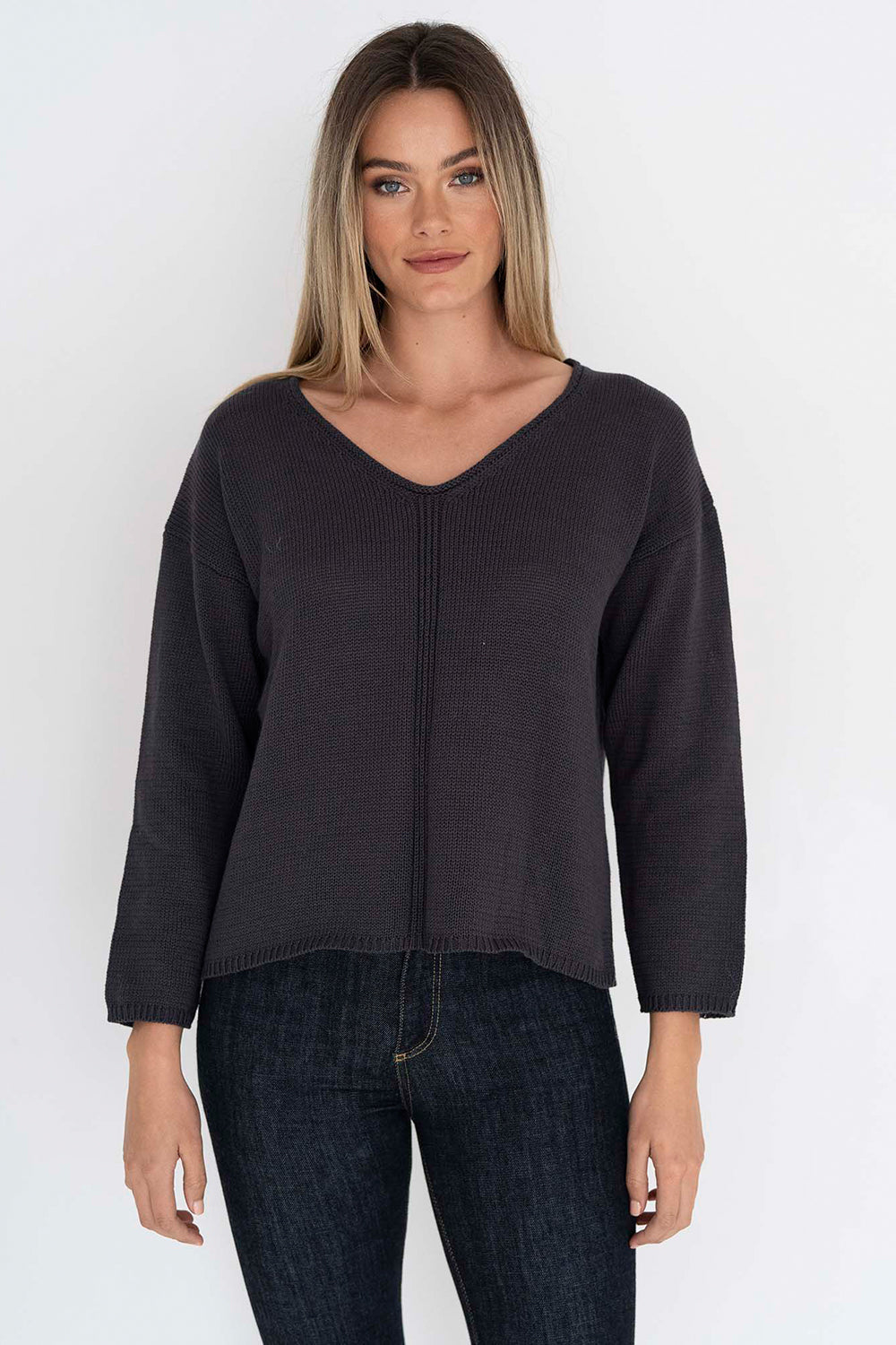 Humidity / Tillie Knit Top / Charcoal